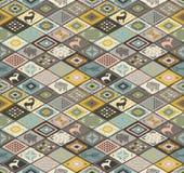 Het naadloze patroon van Navajo met ruit De tekening van het potlood Royalty-vrije Stock Afbeeldingen