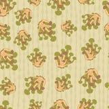 Het naadloze patroon van paddestoelen Royalty-vrije Stock Fotografie