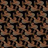 Het naadloze patroon van Paisley Royalty-vrije Stock Afbeeldingen