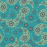 Het naadloze patroon van Paisley en naadloos patroon in monster m Stock Foto