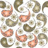 Het naadloze patroon van Paisley en naadloos patroon in s Royalty-vrije Stock Afbeeldingen