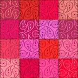 Het naadloze patroon van Paisley van lapwerk Stock Afbeelding