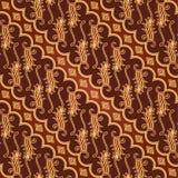 Het naadloze Patroon van Parang Barong van de Batik Stock Foto