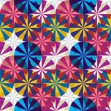 Het naadloze patroon van paraplu's. Stock Foto