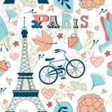 Het naadloze patroon van Parijs royalty-vrije illustratie
