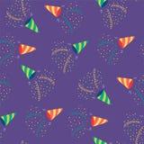 Het naadloze patroon van partijpopcornpannen vector illustratie