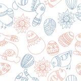 Het naadloze patroon van Pasen Stock Afbeeldingen