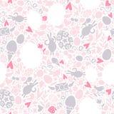 Het Naadloze Patroon van Pasen in Pastelkleuren Stock Afbeelding
