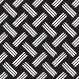 Het naadloze patroon van penseelstrepen Stock Afbeeldingen