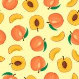 HET NAADLOZE PATROON VAN HET PERZIKfruit vector illustratie