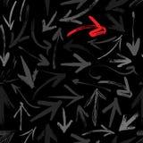 Het naadloze patroon van pijlen stock illustratie