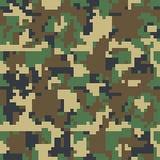 Het naadloze patroon van pixelcamo Groen, bos, wildernis, stedelijke, bruine camouflages Royalty-vrije Stock Afbeeldingen