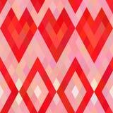 Het naadloze patroon van pixelharten Royalty-vrije Stock Foto's