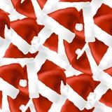 Het Naadloze Patroon van Red Hat Stock Fotografie