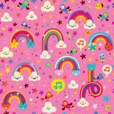 Het naadloze patroon van regenbogen royalty-vrije illustratie
