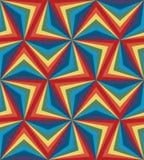 Het naadloze Patroon van Regenboogpoligonal Geometrische abstracte achtergrond Stock Fotografie