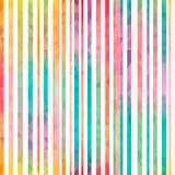Het naadloze patroon van regenboogstrepen Stock Afbeelding
