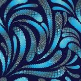 Het naadloze patroon van roosterpaisley stock illustratie