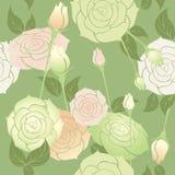 Het naadloze patroon van rozen Stock Afbeeldingen