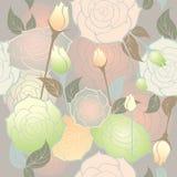 Het naadloze patroon van rozen Royalty-vrije Stock Afbeeldingen