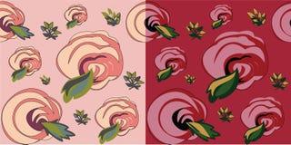 Het naadloze patroon van rozen Stock Fotografie