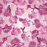 Het naadloze patroon van Sakura Stock Afbeelding