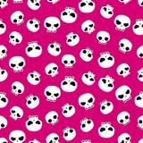 Het naadloze patroon van schedels stock illustratie