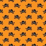 Het naadloze patroon van schedels Stock Foto