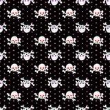 Het naadloze patroon van schedels Royalty-vrije Stock Fotografie