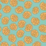 Het naadloze patroon van Shell op de blauwe achtergrond Vector Illustratie