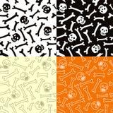 Het naadloze patroon van skeletten. vector illustratie