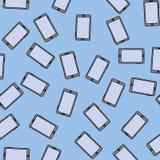 Het naadloze patroon van Smartphone vector illustratie