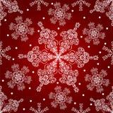 Het naadloze patroon van sneeuwvlokken. Stock Foto's