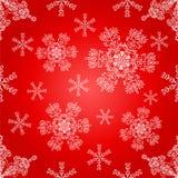 Het naadloze patroon van sneeuwvlokken. Royalty-vrije Stock Foto