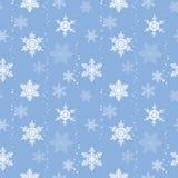 Het naadloze patroon van sneeuwvlokken Stock Afbeelding