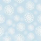 Het Naadloze Patroon van sneeuwvlokken Royalty-vrije Stock Foto's