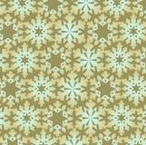 Het Naadloze Patroon van sneeuwvlokken Royalty-vrije Stock Afbeeldingen