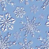 Het naadloze patroon van sneeuwvlokken Stock Illustratie