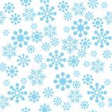 Het Naadloze Patroon van sneeuwvlokken Stock Fotografie