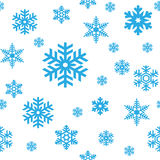 Het Naadloze Patroon van sneeuwvlokken Royalty-vrije Stock Foto