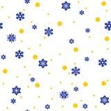 Het Naadloze Patroon van sneeuwvlokken Stock Foto's