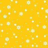 Het Naadloze Patroon van sneeuwvlokken Royalty-vrije Stock Fotografie