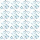 Het Naadloze Patroon van sneeuwvlokken Stock Foto
