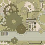 Het naadloze patroon van Steampunk Vector Illustratie