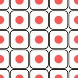 Het naadloze patroon van sushi Stock Afbeeldingen