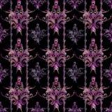 Het naadloze patroon van het tapijtwerkdamast Stock Fotografie