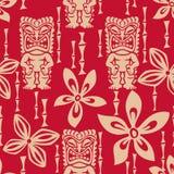 Het naadloze Patroon van Tiki Tapa Stock Afbeelding