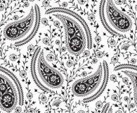 Het naadloze patroon van traditie Indische Paisley royalty-vrije illustratie