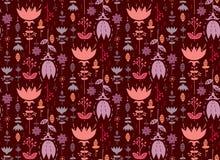 Het naadloze patroon van tulpen Stock Afbeeldingen