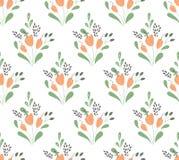 Het naadloze patroon van tulpen Stock Foto's